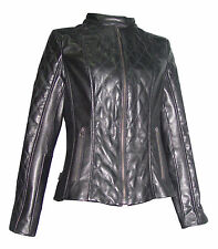 Big Woman & All Size 4060 Quilted Moto Jackets Womens Soft Real