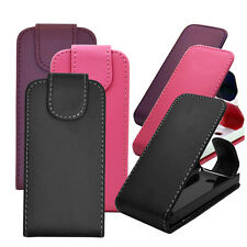 3 COLOUR PU LEATHER MOBILE PHONE FLIP CASE COVER POUCH FOR NOKIA ASHA 301