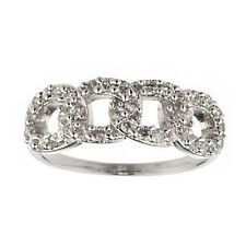 NEW 925 STERLING SILVER DAZZLING CZ INTERLOCKING CIRCLES RING
