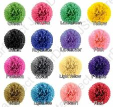 "18 Tissue Paper Pom-Poms MIX 3-SIZE  8"" 10"" 15"" Flower Wedding Party Home Decor"