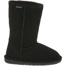 BEARPAW EMMA TALL BOOTS FOR YOUTH KIDS ALL SIZES IN BLACK