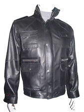 1068 4 Season Wearable Mens Motorcycle Leather Jackets Stylish Patch Pocket