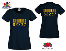 "Barcode Motive - FRUIT OF THE LOOM T-Shirt ""Lady Fit Valueweight T ""Flexdruck"