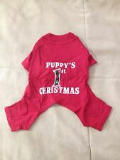 Puppy's 1st Christmas ~T-shirt~ NWT - Red Jammies