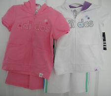 ADIDAS NWT Infant Girls 2PC Track Suit Jacket Pant Top Warm Up 12 18 24 months