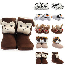 2I WOMENS NOVELTY ANIMAL LADIES SOFT PLUSH GIRLS FUN CHRISTMAS SLIPPERS SIZE S-L