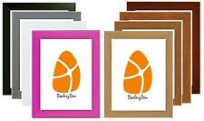 A4 WOOD WOODEN MODERN PICTURE PHOTO FRAME VARIOUS COLOURS Stand Wall Hang