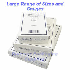 Clear Plastic Polythene Food Grade Bags 120g 250g and 500g Dispenser Boxed
