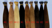 """100S 18""""22""""26""""100% Remy Human hair extensions Keratin Stick tip I-tip+micor bead"""