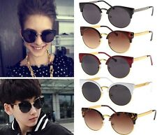 Latest Trends Fashion Super Round Metal Circle Cat Eye Retro Sunglasses Glasses