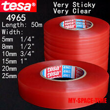 TESA #4965 Double-sided Transparent Clear Heat Resistant Adhesive Tape Long 50M