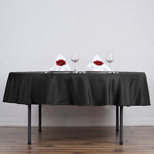 """70"""" Round Polyester Tablecloths for Wedding - BUY Catering Table Linens Supplies"""