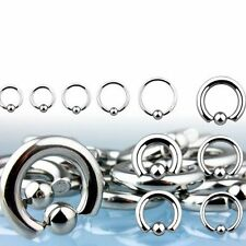 Ball Closure Captive Ring BCR Body Piercing Eyebrow, Nipple, Lip, Nose Pick Size