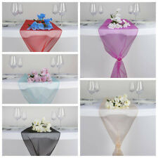 "10 pcs 14x108"" Organza TABLE TOP RUNNERS Wedding Party Decorations - 27 colors"