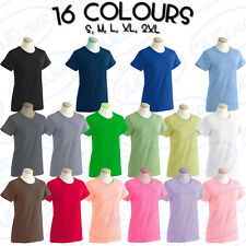 GILDAN LADIES TOP PLAIN BLANK LADIES WOMEN T-SHIRT SIZE ADULT VEST TEE 64000L