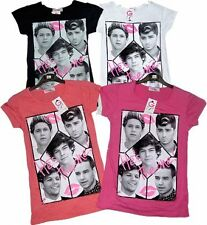 Girls Kids One Direction 1D Tops T Shirts Boy band Fan Top Gift Harry Style 2-8
