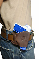 NEW Barsony Brown Leather OWB Yaqui Holster Browning, Colt Mini-Pocket 22 25 380
