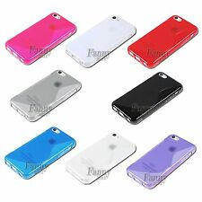 Gel TPU Case Cover Skin for  iPhone 5C + Screen Protector
