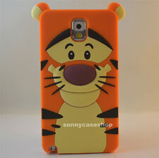 Cute Cartoon tiger Soft Silicone Case for samsung galaxy note3/2 iphone5s