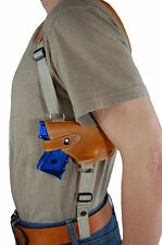 NEW Barsony Tan Leather Horizontal Shoulder Holster for S&W M&P Shield w/ LASER