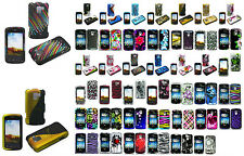1 Rubber Feel/Glossy Design Hard Case For LG Optimus Q l55c Slider Prepaid Phone