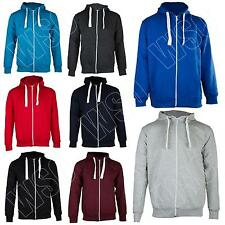 New Mens Plain Zip Up Fleece Hoodie Hooded Hoody Top Jacket Size S M L XL XXL