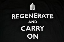 "Doctir Who ""Regenerate and Carry On""  Large Adult T-Shirt Officially Licensed"