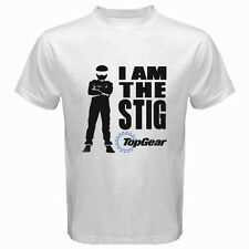 New Top Gear TV Show Logo *I am The Stig Men's White T-Shirt Size S to 3XL