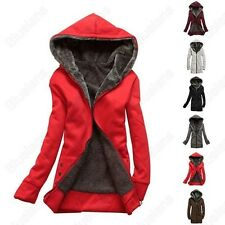 New Women's Winter Jacket Coat Hoodie Pullover Fleece Jacket Short Overcoat