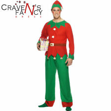 Smiffys Mens Value Elf Fancy Dress Costume Outfit Christmas Xmas Grotto M - XL
