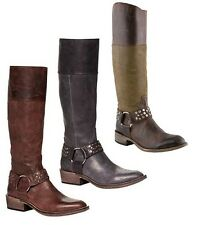 Spirit By Lucchese S4190 Alexis Womens Leather Cowboy Riding Harness Boots