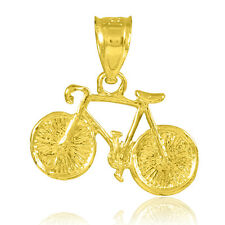 Gold Cycling Bicycle Bike Sport Pendant (Made in USA)