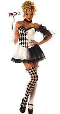 Womens LE BELLE HARLEQUIN Costume Dress Size 8 10 12 Mardi Gras Joker Sexy  NWT