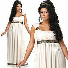 ADULT LADIES PLUS SIZE OLYMPIC GODDESS  FANCY DRESS COSTUME GREEK ROMAN TOGA