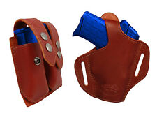 NEW Barsony Burgundy Leather Pancake Holster+Dbl Mag Pouch Kel-Tec Comp 9mm40