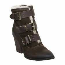 PIED A TERRE OHANIAN MULTI STRAP LEATHER ANKLE BOOTS LADIES EX DISPLAY
