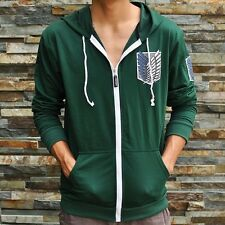 ★green Attack on titan / shingeki no kyojin Investigation Hoodies Jackets Coats