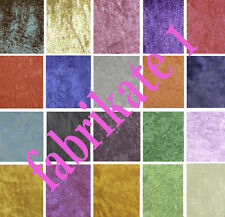 Crushed Velvet Dress Fabric (Sample)Our Price Per M £2.25 12 Cols Available
