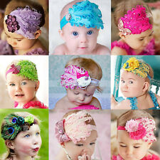 Baby Newborn Toddler Girls Feather Headband Head Wear Photography Prop Xmas Gift