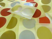 Roll of  1000 42mm Serrated Certificate Wafer Seals Labels for Awards Embossing