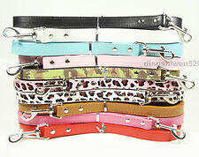"""New 48inch Smooth PU Leather Dog Leashes Lead 3/4"""" Wide Fit Medium Large Dogs"""