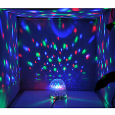 NEW 9W 2in1 Auto/Sound Active RGB Crystal Ball + 48 LEDs DJ Party Stage Lighting