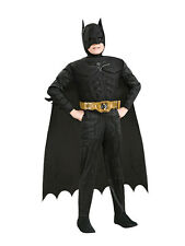 Childs Boys Dark Knight Batman Costume Super Hero Fancy Dress Deluxe Fun Outfit