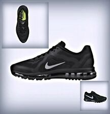 Men's Nike Air Max 2014 Black Reflect Silver Dark Gray 621077 001