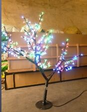 "LED Cherry Blossom Tree Christmas Light 260 LEDs 40"" Height RGB Changing Color"