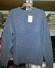 NWT New Sweater Levis suede elbows Blue