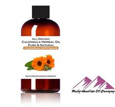 PREMIUM ORGANIC CALENDULA INFUSED OIL 100% NATURAL UNCUT 1 2 4 6 8 16 32 oz
