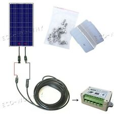 100W Solar Panel,PV panels only or with solar kits: Z bracket,cables,controller