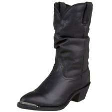 Women's Durango Black Leather Slouch Western Boot RD540
