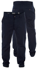 BNWT Mens D555 Slim Fit Skinny Chino Trousers Navy Blue Waist Size 30 32 34 36